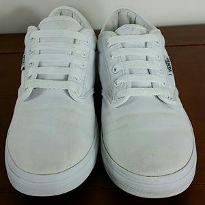 Vans white padded